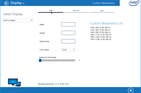 Surface Pro 3 und Custom Resolutions