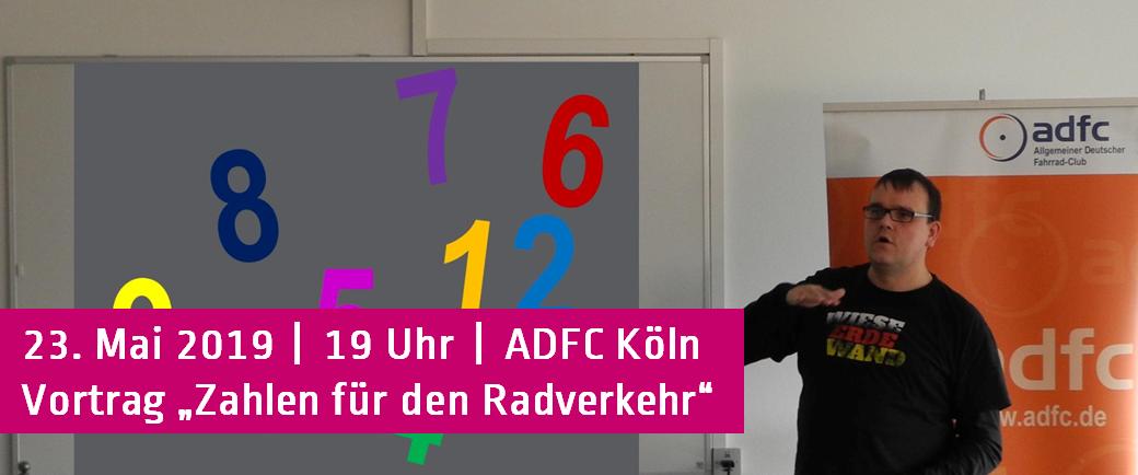 ADFC Köln Vortrag Unfallstatistik Zahlen für den Radverkehr