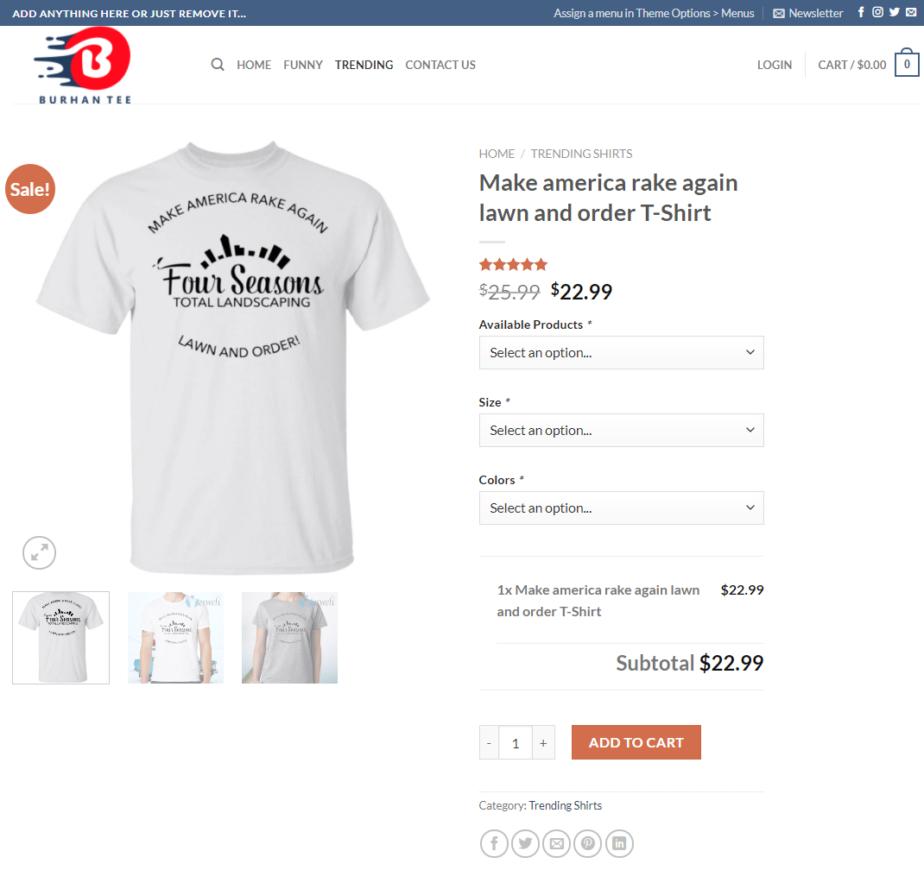 Make-America-Rake-Again-Shop